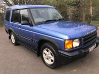 LAND ROVER DISCOVERY 2.5 TD BLUE ESTATE 4x4 DIESEL MANUAL 2001