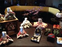Complete Japanese Doll Set with stand