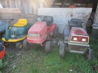 2 tracteur a gazon/pelouse pour pieces