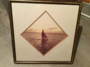 Framed Sailboat picture