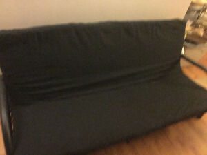 Black Metal Futon with Black Pad