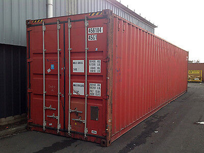 40ft High Cube 96 High Shipping Container Cargo-worthy Tampa Fl