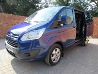 FORD TRANSIT CUSTOM 290 L1 H1 DOUBLECAB LIMITED SWB 125 BHP AIR CON 6 SEATS