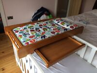 Cot top changer / baby changing table