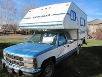 1997 Explorer High Bunk 9.5' Camper and 1993 Chev 1 Ton