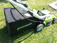 """Greenworks 10A 16"""" Electric Lawnmower"""