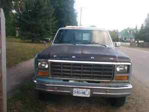 1981 Ford pickup truck and utility trailer