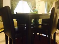 Dining table set withe 4 chairs