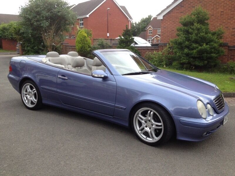 mercedes clk 200 kompressor convertible convertable lilac blue in coventry west midlands. Black Bedroom Furniture Sets. Home Design Ideas
