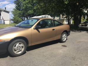 Chevrolet cavalier 1995 sans rouille, ne coule pas en parfait
