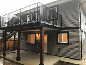 New 2 bedroom suite close to trails and University w/Hydro