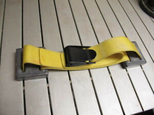 Dual lead weight diving belt, Yellow 6lb (2x3lb) stainless clasp