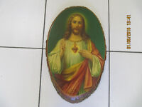 Sacred Heart Of Jesus 11x17 Solid Wood Oval Plaque Made In USA