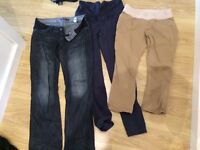 Maternity trousers - size medium (10-12)