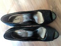 Black Sparkle Shoes (George)