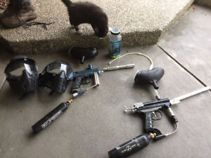 Orion and Spyder paintball guns