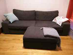 Ikea Sofa Bed and Footstool (with storage space)
