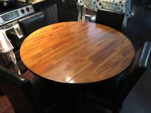 Solid Wood Dining table with two chairs for SALE at ONLY $90