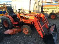 KUBOTA B7200 4x4 Diesel with Mower and Loader