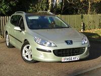 Peugeot 407 SW 2.0HDi SE**DIESEL ESTATE**136BHP**MEGA LOW MILEAGE**PSH**56MPG**