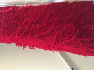 Red retro wool shag carpet