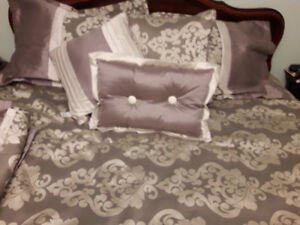 Queen Size Bedding and Matching Panels