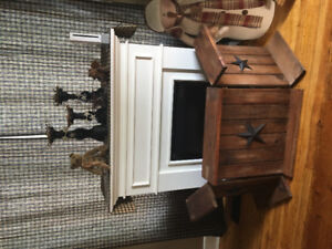 Fireplace with homemade screen