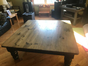 Large square coffee table from Oak Haus