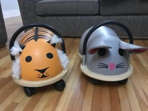 Wheely bugs ride on toys - tiger & mouse