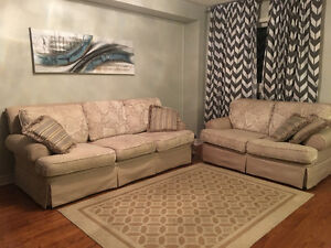 Beautiful two piece sofa set for sale
