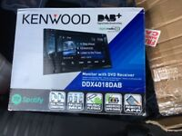 Brand new Kenwood ddx4018 dab car radio