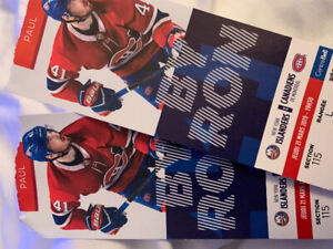Montreal Canadiens Tickets March 21 2019 - Reds - Islanders