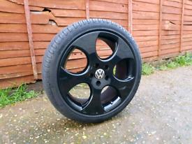 18 Inch Golf Monza Alloy Wheels & Tyres - gti gtd mk6 mk5 skoda vw