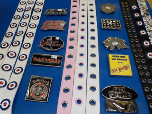 "Belts + Music related buckles for sale ""NEW"""