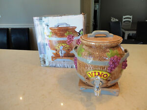 Brand New Ceramic Vino Wine or Beverage Dispenser Kitchener / Waterloo Kitchener Area image 1