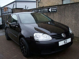 08 08 VOLKSWAGEN GOLF 1.4 3DR BLACK ALLOYS AIRCON F.S.H 8 STAMPS LOW INSURANCE