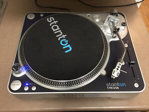 Stanton t.90 USB DJ direct drive turntable w/ 500.V3 needle