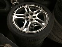 4x Subaru Alloy Wheels and Tyres 17""
