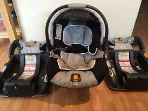 Chicco Keyfit 22 car seat and two bases