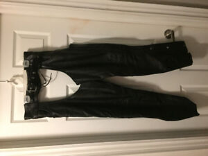 Womens Motorcycle Leather Jacket and Leather Chaps