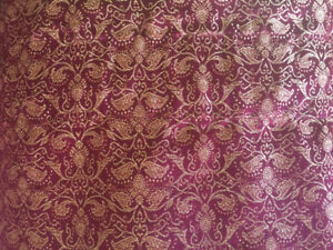 Burgundy and gold  curtains silk like material