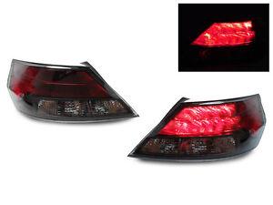 DEPO JDM Matte Black Trim / Smoke Red Rear LED Tail Lights For 09-14 Acura 4G TL