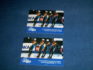 EQUIPE NATIONALE DE PATINAGE DE VITESSE-1994 WESTON CARDS