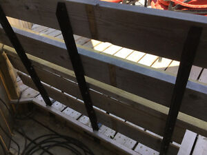 Deck bench braces