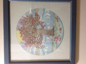 framed drawing / print