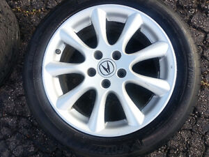 """Acura TSX OEM 17"""" Rims, TPMS,  and Michelin Pilot Tires Cambridge Kitchener Area image 2"""