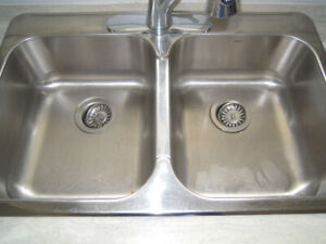 LAVABO  INOX    double   2 cuves