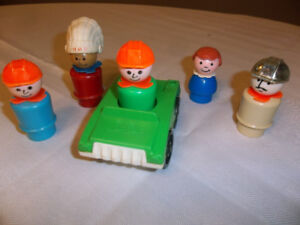Vintage Fisher Price People and Car