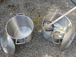 Pots Stainless for Pickling/ Canning.  Also Outdoor LP Stand for