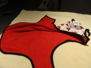Brand new large size dog coat with NHL prints.